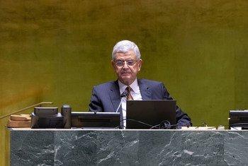 Volkan Bozkir, Président de la 75ème session de l'Assemblée générale durant le débat général.