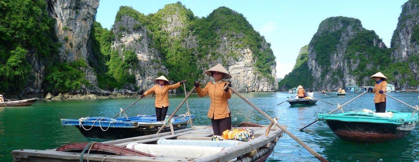 Halong Bay in Viet Nam..