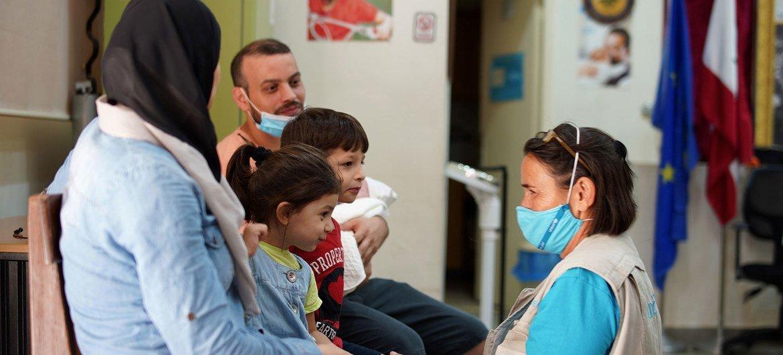 A UNICEF doc  treats a kid  conscionable  days aft  the explosion.