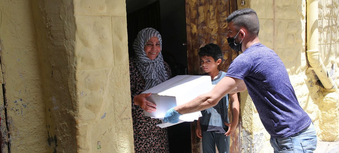 Many families in Gaza need humanitarian aid to survive and receive food parcels from the UN agency working in the region, UNRWA.