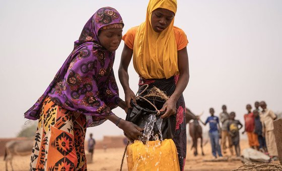 In Niger, collecting h2o  tin  instrumentality     up   to 4  hours a day.