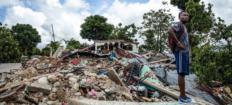 हेती में अगस्त 2021 में आए 7.2 की तीव्रता वाले भूकम्प ने, भारी तबाही मचाई