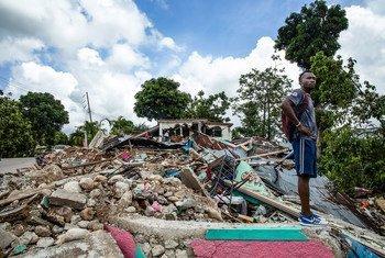 La comunidad de Les Cayes fue destruida tras el terremoto de 7,2 grados de magnitud en Haití.