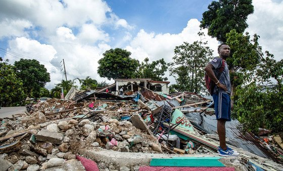 The community of Les Cayes was destroyed when the 7.2-magnitude earthquake struck Haiti last August