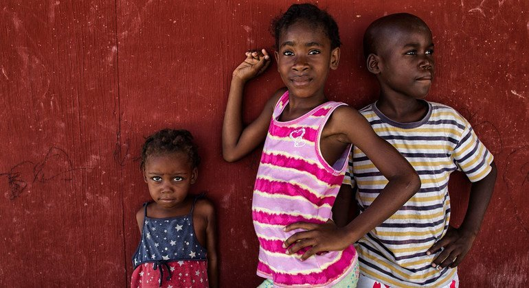 Children living in a displaced persons camp in Haiti. (file)