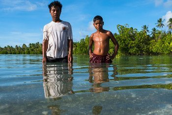 With most of its land only a few feet above sea level, Kiribati is seeing growing damage from storms and flooding.