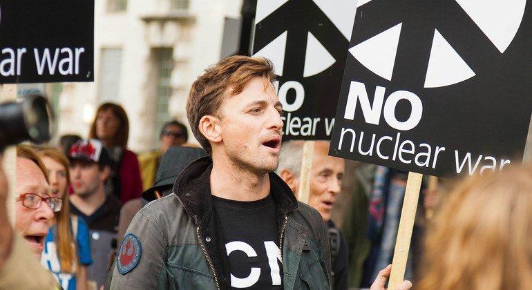 Protestos contra armas nucleares no Reino Unido