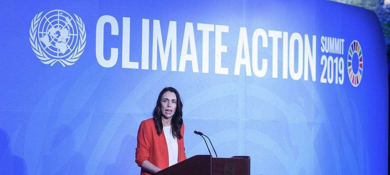 Премьер-министр Новой Зеландии Джасинда Ардерн на Саммите по климату