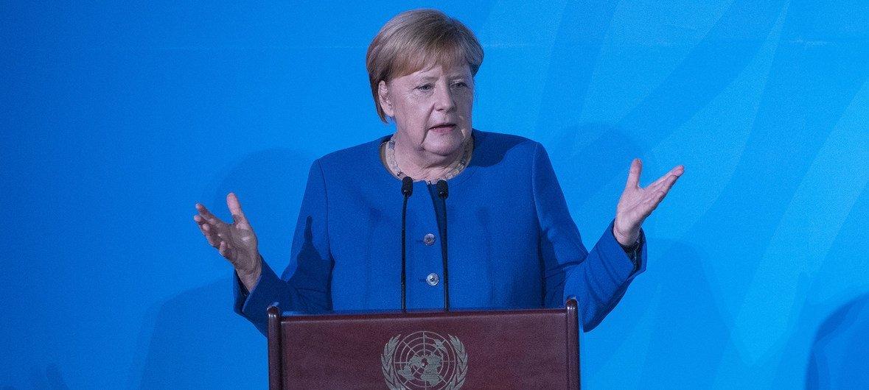 Канцлер Германия Ангела Меркель на Саммите по климату