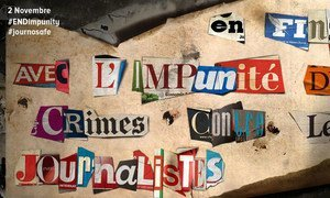 International Day to End Impunity for Crimes against Journalists.