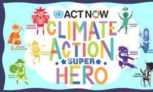 Campagne de l''ONU pour impliquer les enfants dans l'action climatique.