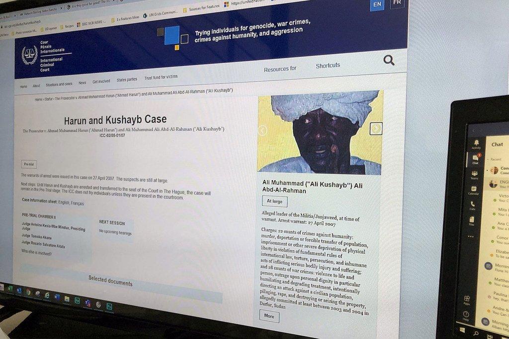 国际刑事法院于2007年针对阿里·库沙卜发布了逮捕令。