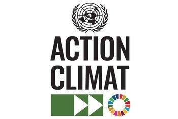 Le logo des Nations Unies pour l'action en faveur du climat. Les Etats-Unis sont officiellement revenus dans l'Accord de Paris le 19 février 2021