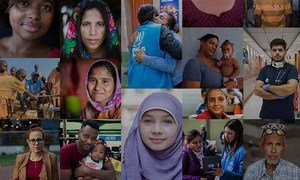 """2020年,世界难民日的主题是""""每一个行动都很重要""""。"""