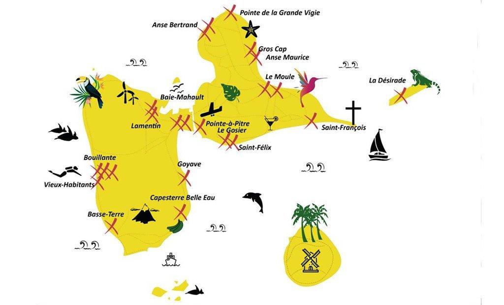 Carte générale de la Guadeloupe