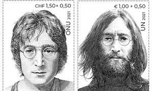 UN honours International Day of Peace with John Lennon stamps