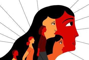 制止暴力侵害妇女行为国际日宣传画