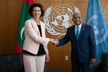 Le président de l'Assemblée générale rencontre la ministre des Affaires étrangères d'Andorre, Maria Ubach Font.