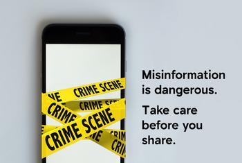 Дезинформация опасна. В ООН призывают остановиться и подумать, прежде чем публиковать непроверенную информацию. #ВыдержиПаузу
