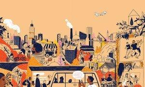 """Este ano, o tema do Dia Mundla das Cidades é """"Mudando o mundo: inovações e uma vida melhor para as gerações futuras""""."""