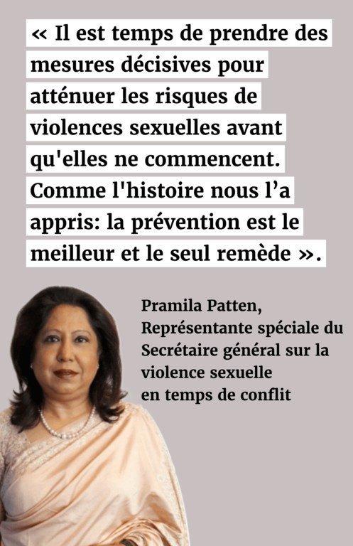Il est temps de prendre des mesures décisives pour atténuer les risques de violences sexuelles avant qu'elles ne commencent. Comme l'histoire nous l'a appris: la prévention est le meilleur et le seul remède.
