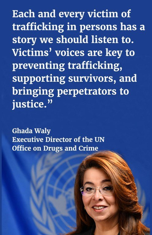 Each and every victim of trafficking in persons has a story we should listen to. Victims' voices are key to preventing trafficking, supporting survivors, and bringing perpetrators to justice.