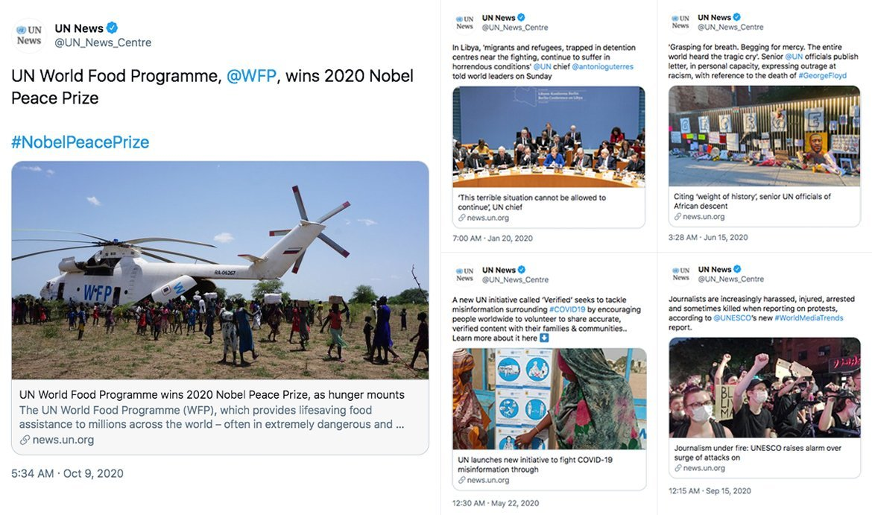 Top five tweeted news stories on @UN_News_Centre