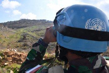 UNIFIL peacekeeper on patrol in south Lebanon. (File)