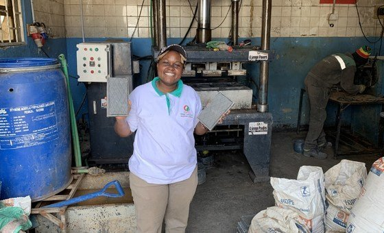 Nzambi Matee is simply a materials technologist  and caput  of Gjenge Makers, which produces sustainable low-cost operation  materials made of recycled integrative  discarded  and sand.
