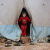 A child living in an IDP camp in northwestern Syria.