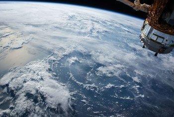 Un satélite visto desde el espacio.