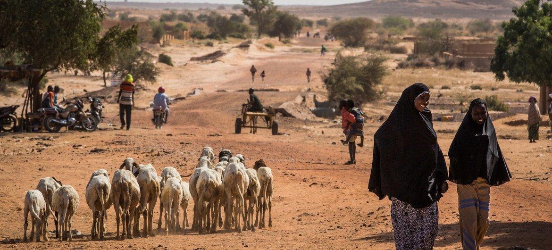 People walk on a road in the Tillaberi region in western Niger. (file photo)