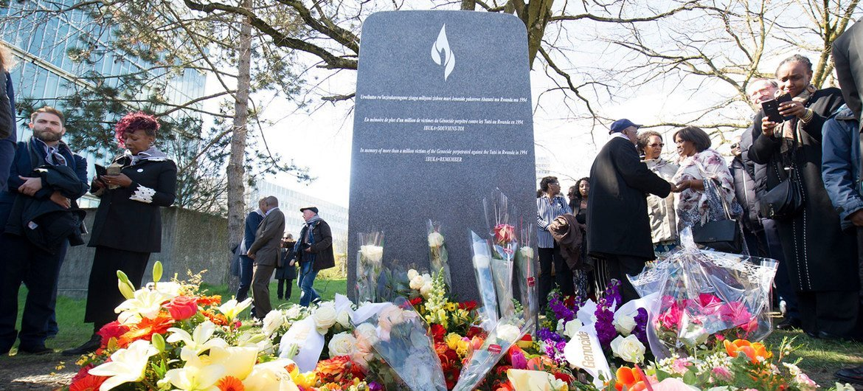 Um monumento em memória do genocídio de 1994 contra os tutsis em Ruanda é inaugurado nas Nações Unidas em Genebra (Foto de qrquivo)