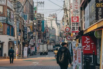 A street in Seoul, South Korea