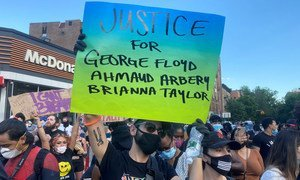 Protests against police brutality have been taking place in cities across the United States including in New York city.