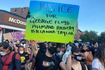 Las manifestaciones contra la brutalidad policial en Estados Unidos se han producido en muchas ciudades del país, entre ellas Nueva York.