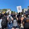 Las protestas por la muerte de George Floyd a manos de la policía de Mineápolis se han sucedidio en diversas ciudades de Estados Unidos, como la de Nueva York.
