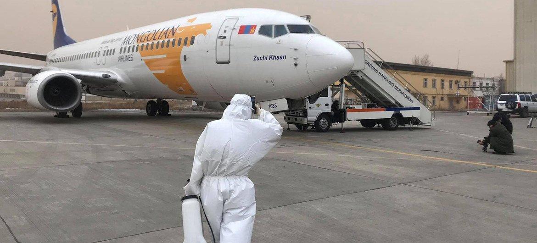 Un avión charter preparándose para salir a un nuevo destino.