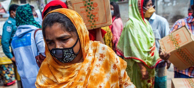 O Pnud forneceu apoio financeiro para famílias em Bangladesh durante a crise da Covid-19