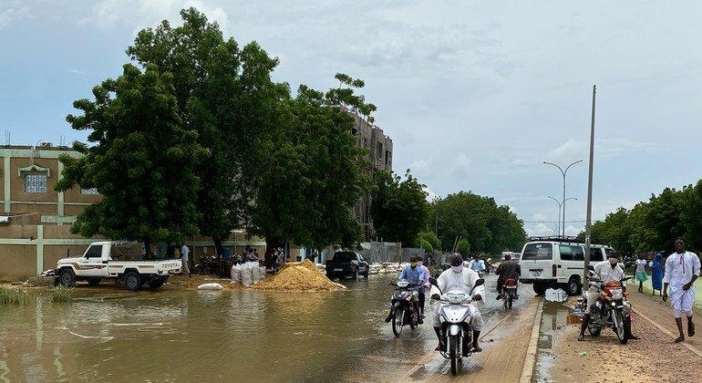 الفيضانات تغمر مناطق شاسعة في الساحل الأفريقي ومن بينها تشاد.