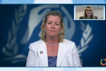 حوار عبر تقنية الفيديو مع السيدة كيلي كليمنتس، نائبة المفوض السامي للأمم المتحدة لشؤون اللاجئين.