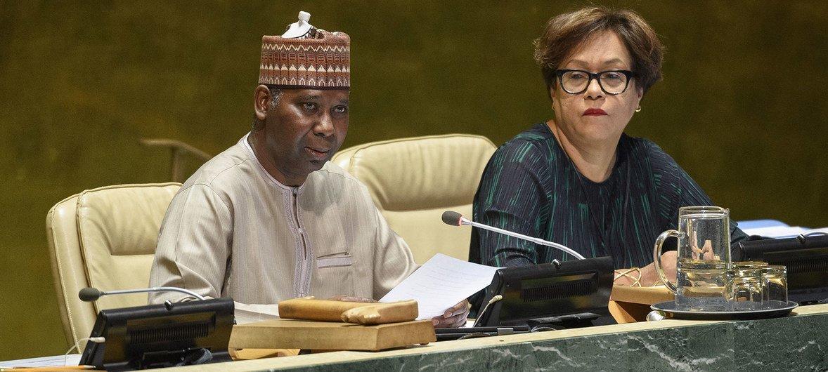 Председатель 74-й сессии Генеральной Ассамблеи ООН Тиджани Мохаммад-Банде.