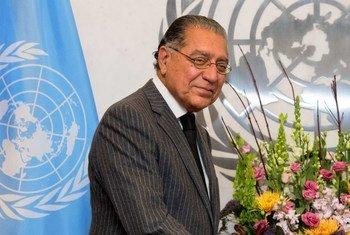 联合国第76任经社理事会主席、巴基斯坦常驻联合国代表阿克拉姆(Munir Akram)。