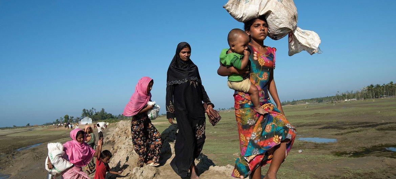 Rohingya refugees flee to Cox's Bazar, Bangladesh. (file)