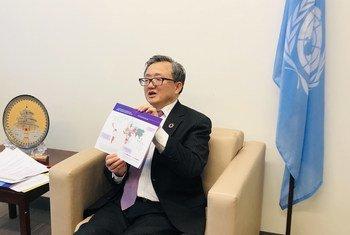 联合国负责经济与社会事务的副秘书长刘振民举行记者会,介绍《2020年世界经济形势与展望》报告。