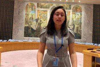 ليلى شوما، من مصر. متدربة في أخبار الأمم المتحدة في نيويورك.