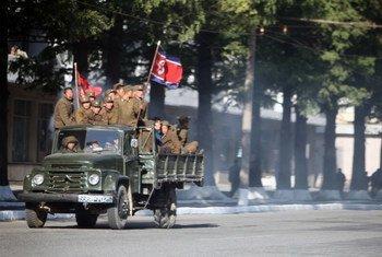 朝鲜首都平壤街景(2011年十月图片)。