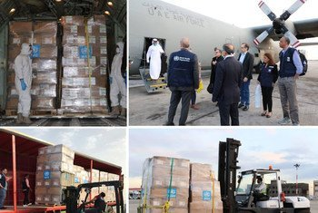世界卫生组织向伊朗派遣医疗队和运送物资,帮助应对冠状病毒疫情的暴发。