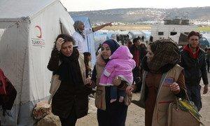 مخيم كفرلوسين في إدلب شمال غرب سوريا (2 مارس/آذار 2020)