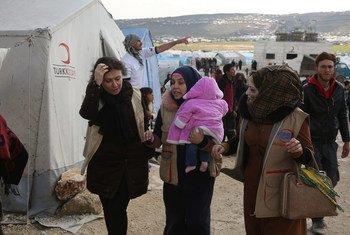 The Kafr Lousin camp in Idlib, northwestern Syria.